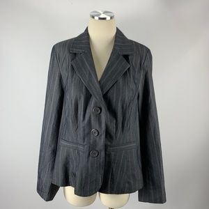 NWT Lane Bryant Sz 14 Blazer Jacket Career Gray